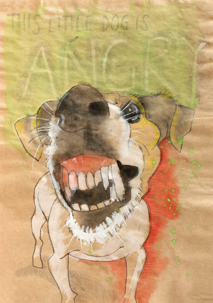 dog sketch portrait